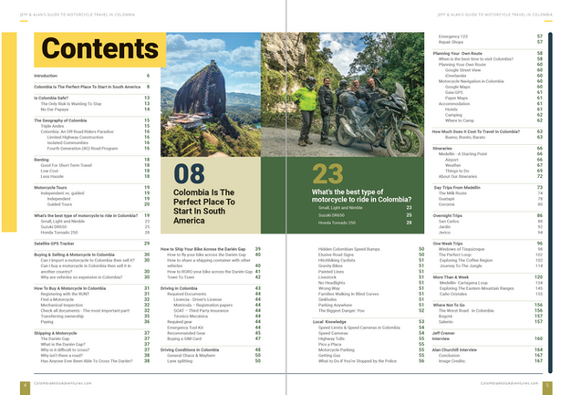 Colombia Motorcycle Travel Guide