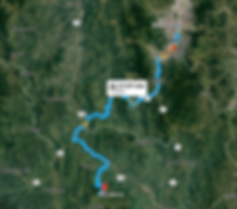 Jerico, Colombia Motorcycle Trip Map