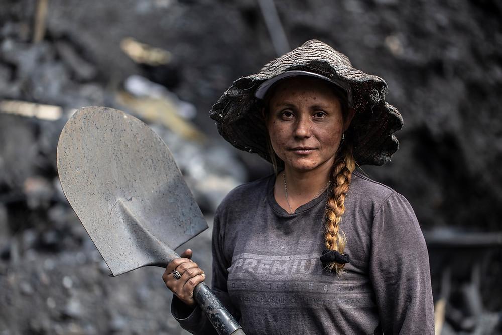 Guaquero emerald miner in Boyaca