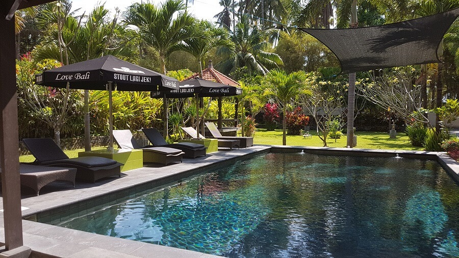 Deep pool at Villa Matanai accommodation