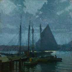 Frederick Mulhaupt_Moonlight, Gloucester