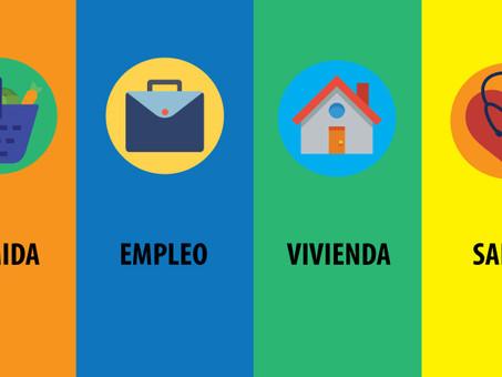 Recursos de comida, empleo, vivienda, y salud