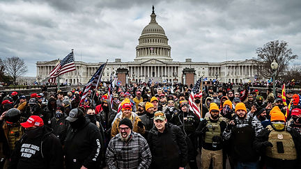 Picture of rioters at the U.S. Capitol on January 6, 2021.