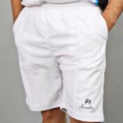 Henselite White Sports Shorts