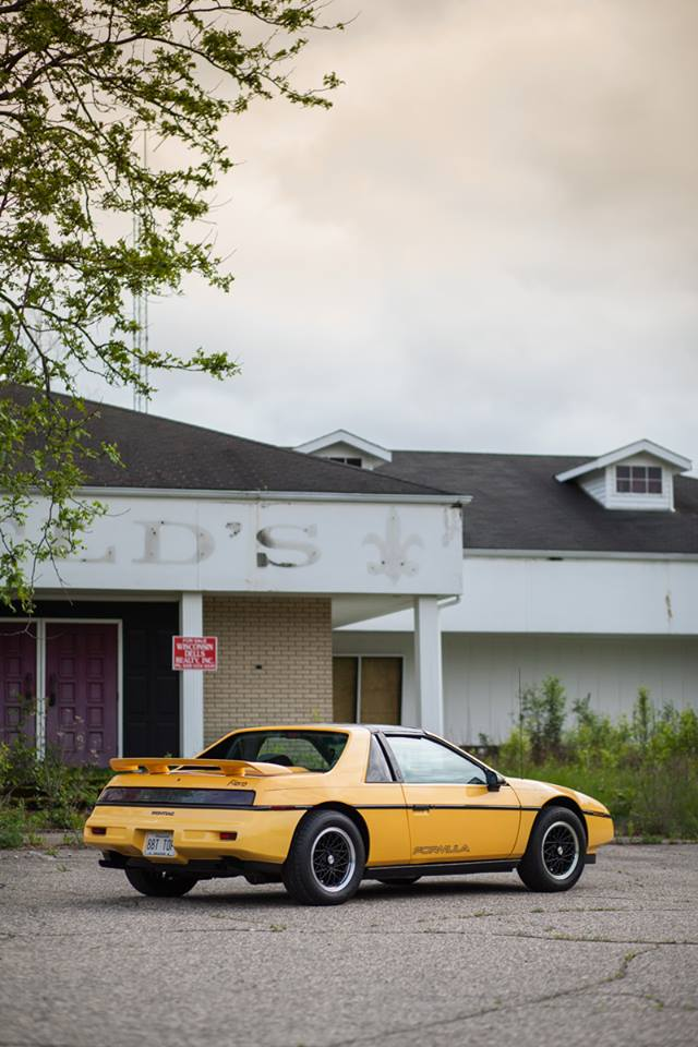 1988 Fiero Formula Yellow T-Top
