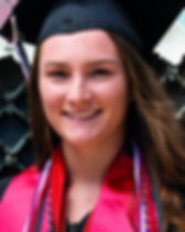 high school female graduate student with long hair