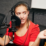 teenage female high school student on a high school radio program