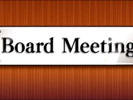Board Meeting Monday, April 12, 2021