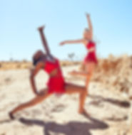 jazz dance school students perform in the desert just outside of Encore High School
