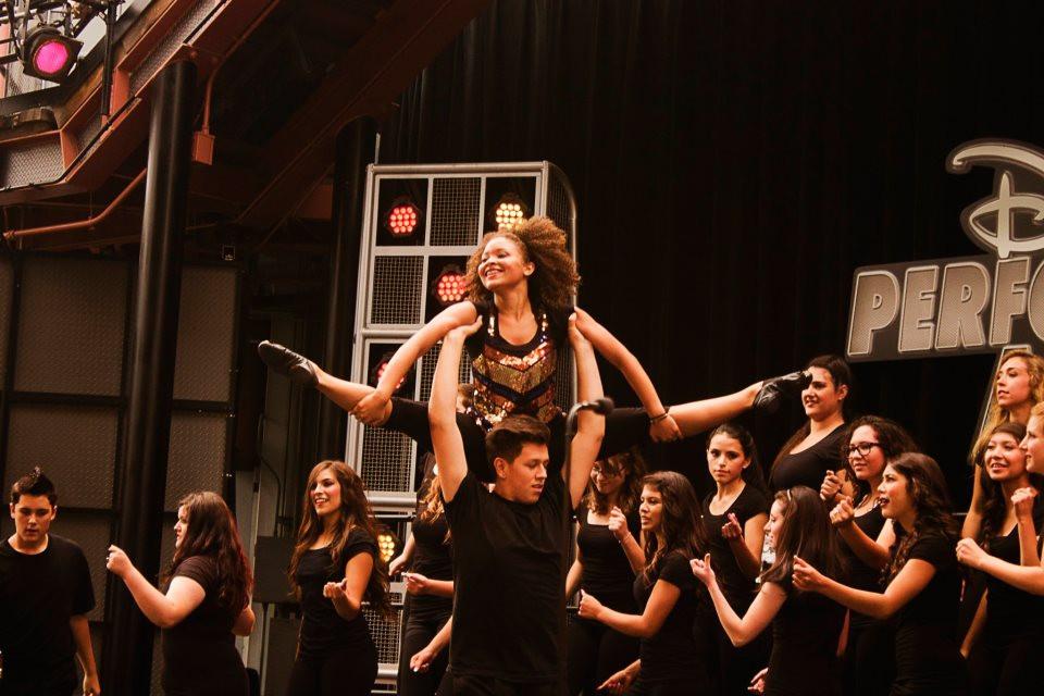 Alexis Beauregard dances for Encore High School at Disneyland