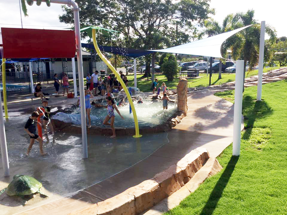 Aquatic play park Hinchinbrook