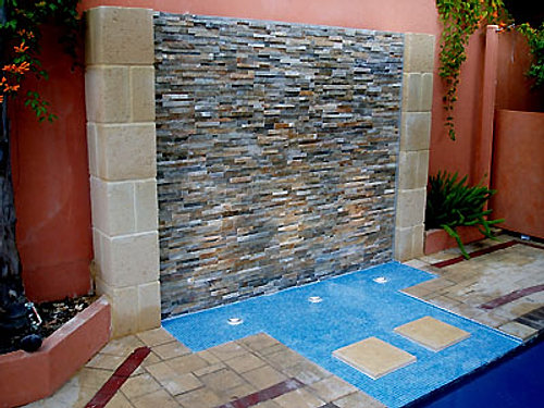 Water Features With Stone Or Cladding