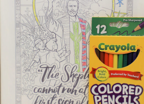 Blessed Stanley Rother Coloring Pages (with colored pencils)