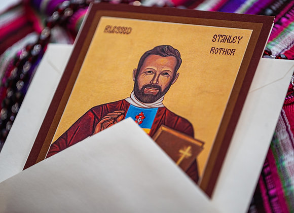 Blessed Stanley Rother Icon Notecards (with envelopes)