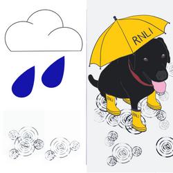 Labrador Rain_playing card