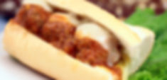 meatballs gourmet fresh sandwich with or