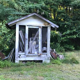 vintage corn crib