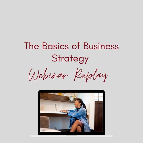 Basics of Business Strategy- Webinar