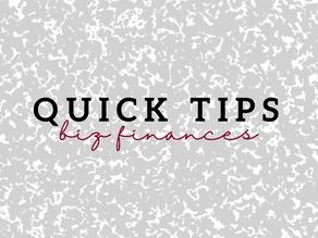 Quick Tips- Biz Finances