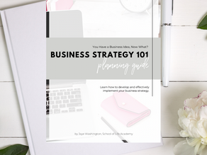 Biz. Strategy 101 Planning Guide