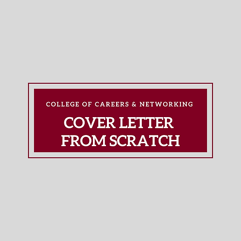 Cover Letter from Scratch