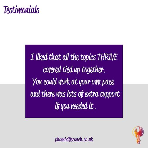 Testimonial from Phoenixlifecoach.co.uk Client