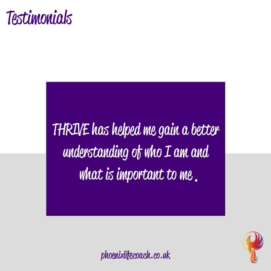 Testimonial from Phoenixlifecoach.co.uk Client