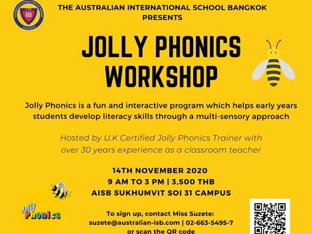AISB Jolly Phonics Workshop - 14th November 2020