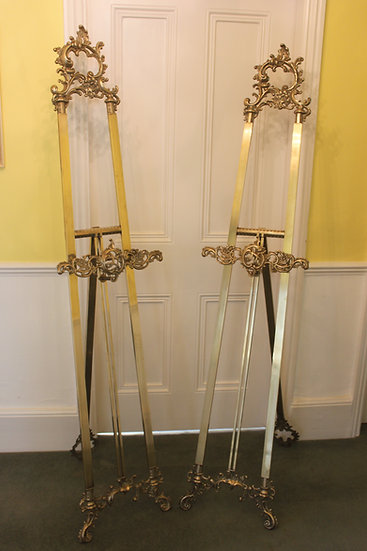 French pair of easels