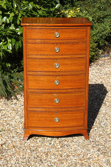 Sheraton Revival Satinwood chest