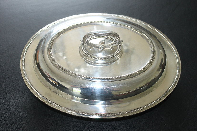 Edwardian silver plated entree dish by James Dixon & Sons