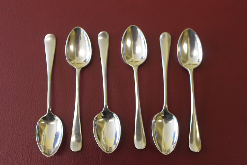 A set of six hallmarked silver teaspoons by Mappin