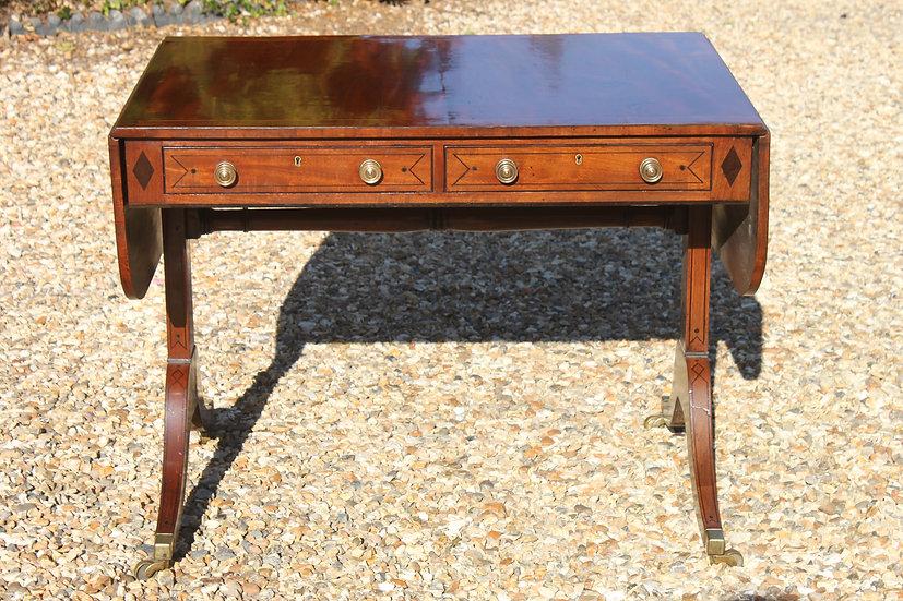 Sheraton period sofa table