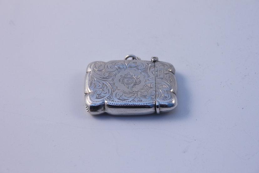 Hallmarked silver vesta case