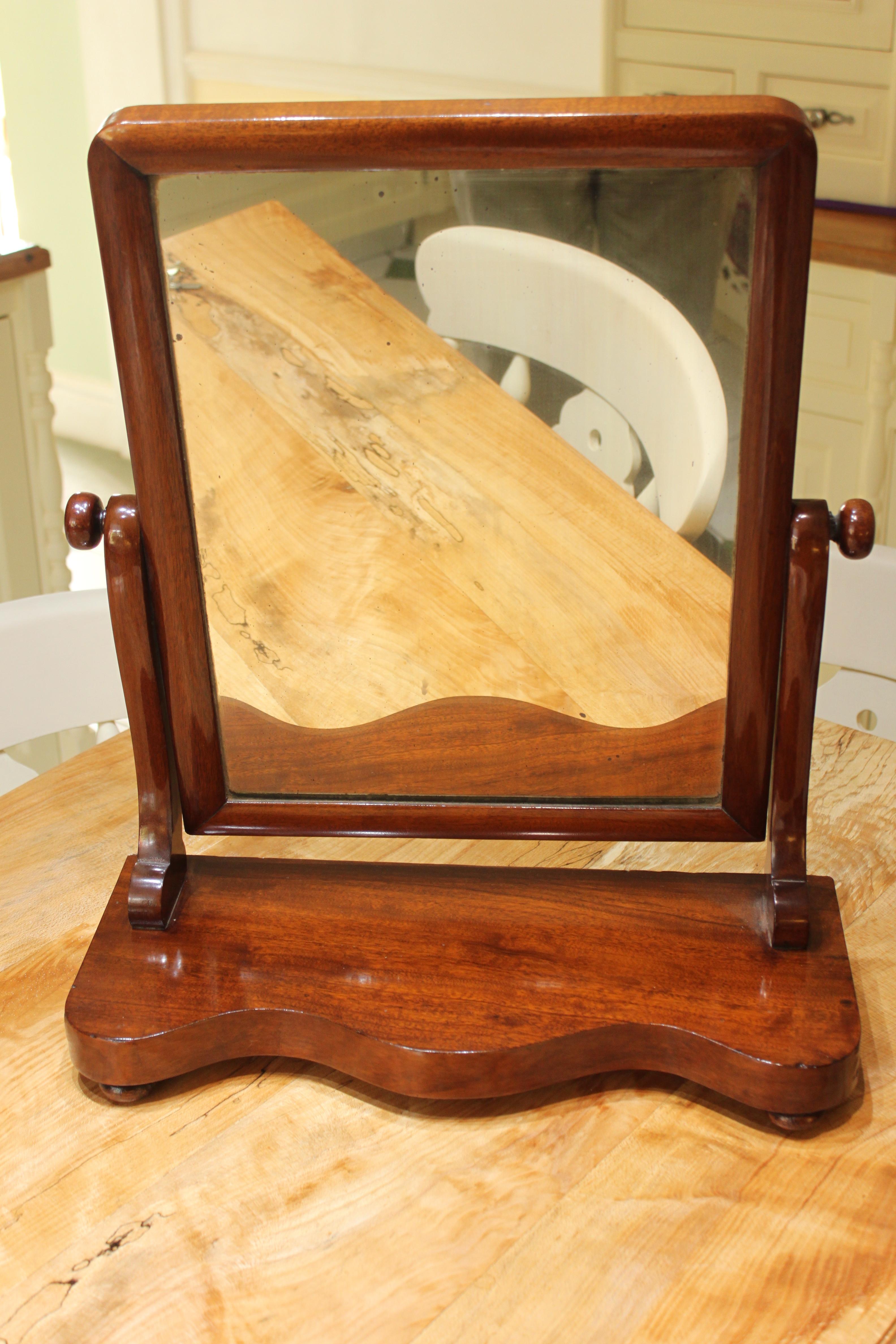 Victorian mahogany toilet mirror _4682