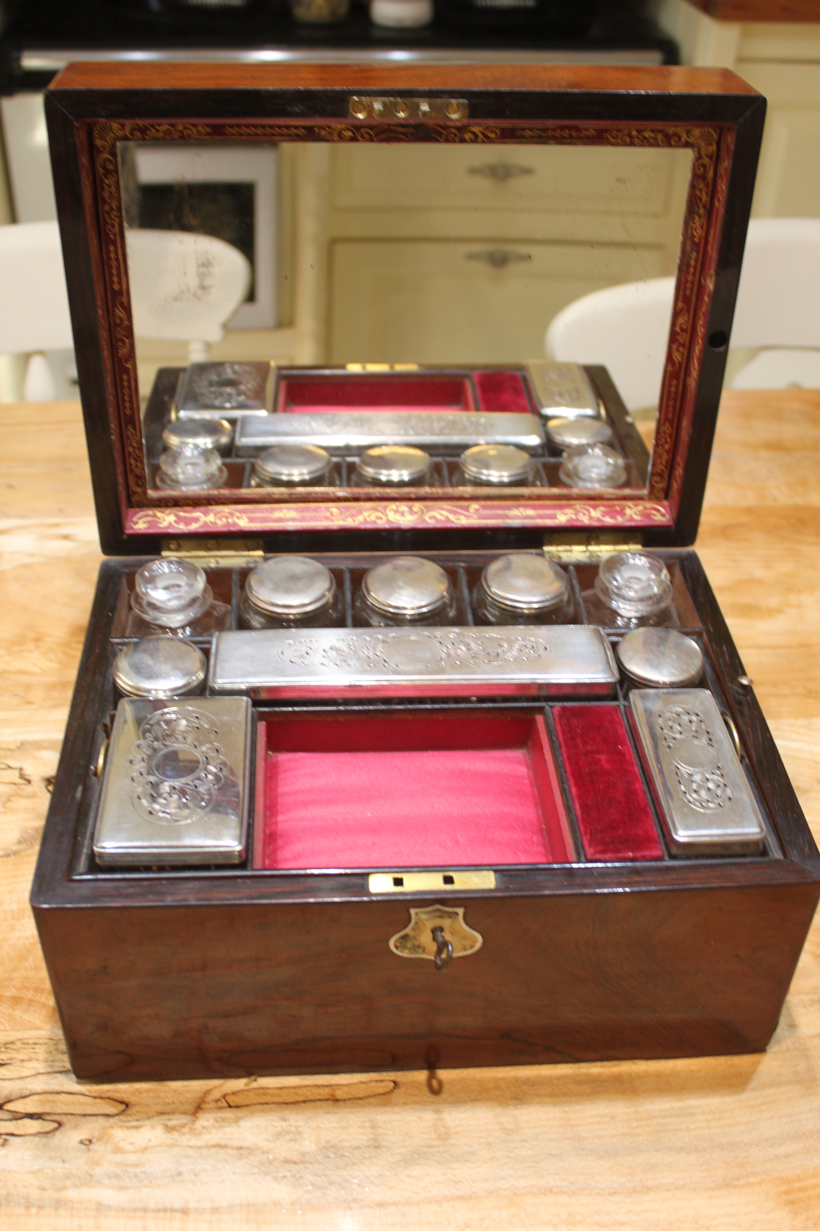 19th century rosewood vanity case_4632