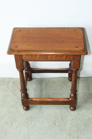 19th century oak joined stool
