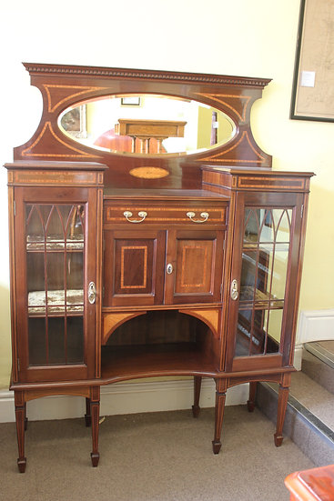 A late 19th century Sheraton revival side cabinet.