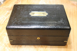Victorian leather bound writing slope by