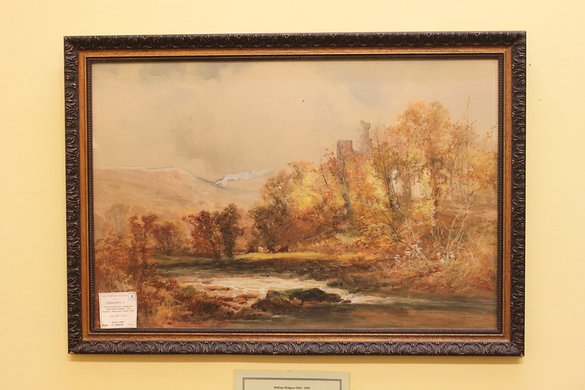 A framed watercolour, William Widgery