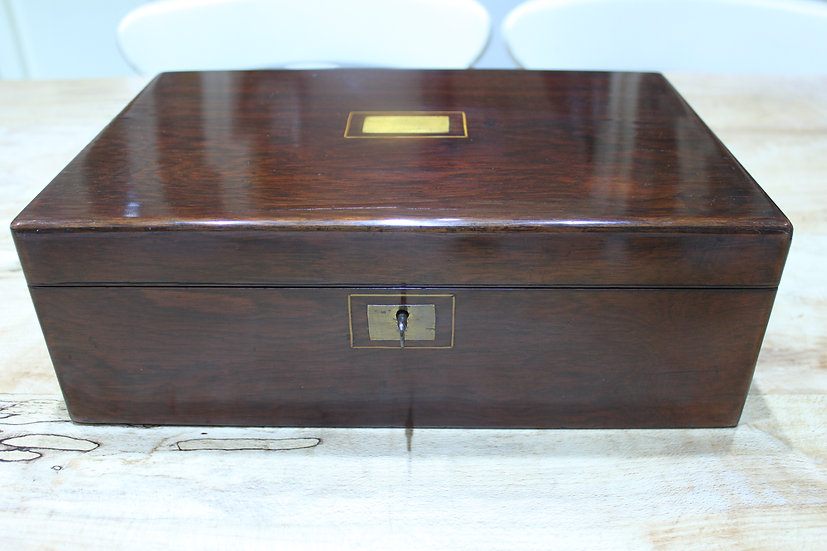 An early Victorian rosewood writing slope