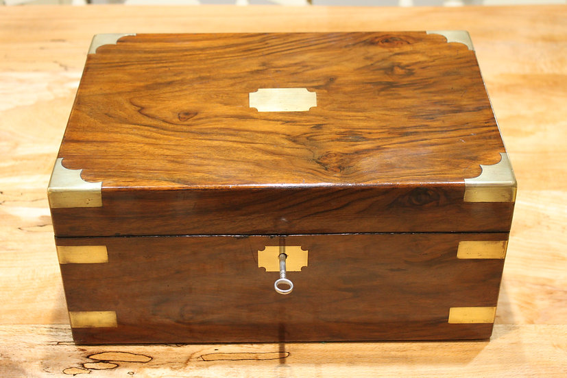 Victorian walnut writing slope with secret drawers