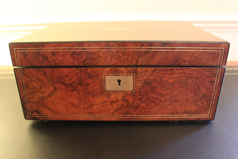 Victorian writing slope walnut with secret drawers