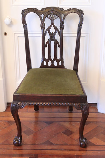 A mahogany Chippendale style desk chair