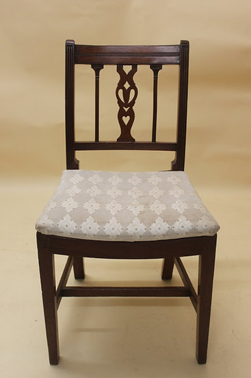 A set of six late 18th century dining chairs