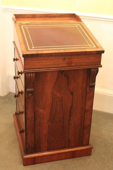 A fine original George IV rosewood davenport