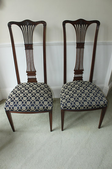 Fine pair of Edwardian hall chairs