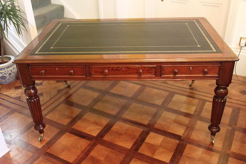 19th century mahogany library table