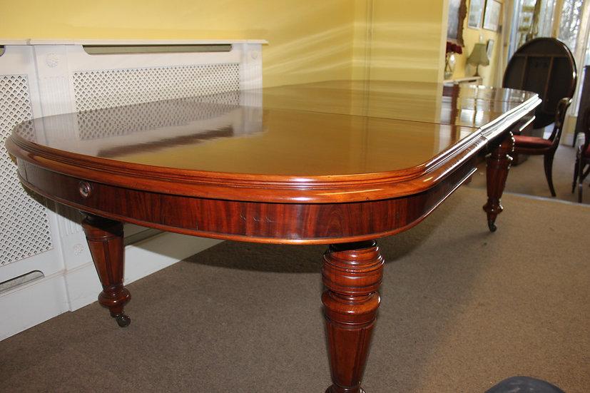 Victorian mahogany extending table