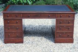 Victorian mahogany partners desk_4386